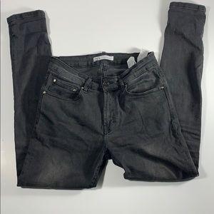 ZARA skinny black wash jeans size 30